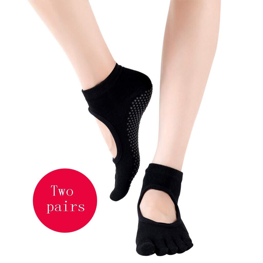Ckssyao Sport Fünf-Finger-Socken, Yoga Fitness, Damen, Rutschfestes Silikon, Atmungsaktiv, Geeignet zum Gehen oder…