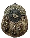 Neue Full Kleid Kilt Sporrans kilttaschen Celtic efterkante Antik Finish/schottischen Sporrans kilttaschen Formale Dichtung Haut