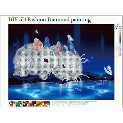 Trada Landschaft DIY 5d Diamant Painting Voll, 5D Landschaft voller Stickerei Gemälde Strass eingefügt DIY Diamant Malerei Kreuzstich Klebebild mit Digitale Sets Kreuzstich Wanddekoration (E)