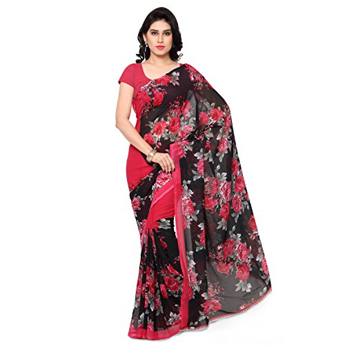 Anand Sarees Georgette Saree with Blouse Piece (1152_1_multicolour_Free size)