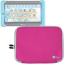 DURAGADGET Funda Rosa De Neopreno Para Cefatronic Tablet Clan Pro / Kurio Tab 2 | Resistente Al Agua - ¡Ideal Para Los Peques!