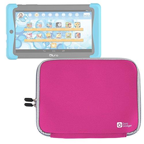 DURAGADGET Funda Rosa De Neopreno Para Cefatronic Tablet Clan Pro/Kurio Tab 2   Resistente Al Agua - ¡Ideal Para Los Peques!