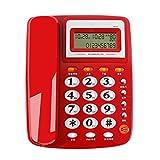 HLNT Schnurgebundenes Telefon Festnetzanschluss Haushalt Festes Telefon Bürotelefon Freisprechen, Red
