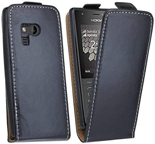 cofi1453 Klapptasche kompatibel mit Nokia 216 Schutztasche Schutzhülle Flip Tasche Hülle Zubehör Etui in Schwarz Tasche Hülle