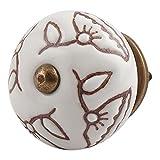 #8: IndianShelf 2 Piece Handmade Ceramic Brown Drawer Knobs Dresser Handle Cabinet Pulls Door Online