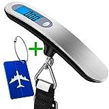 Balance à bagages numérique, wellead bagages balance suspendue portable avec coffre Pendentif d'affichage LCD pour Pondération 50kg Capacité