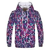 JUTOO Mode Liebt 'Casual Herbst Winter Druck Langarm Hoodies Sweatshirt(Lila-2,XX-Large)