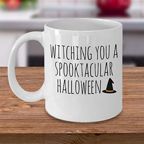 ChGuangm Witch Witching Kitchen Witch Mug Halloween Witches Personalized Gift Wizard Spooky Costume Candy House Coffee Mug Gift Tea Cup 1811 J (Spooky Halloween-drinks Kinder Für)