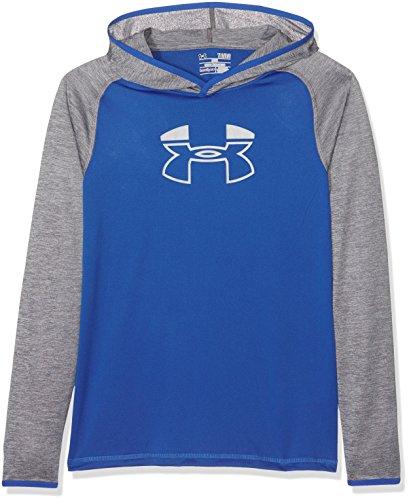 Under Armour Jungen Tech Block Hoody Oberteil, Ultra Blue, YLG (Hoody Block Sweatshirt)