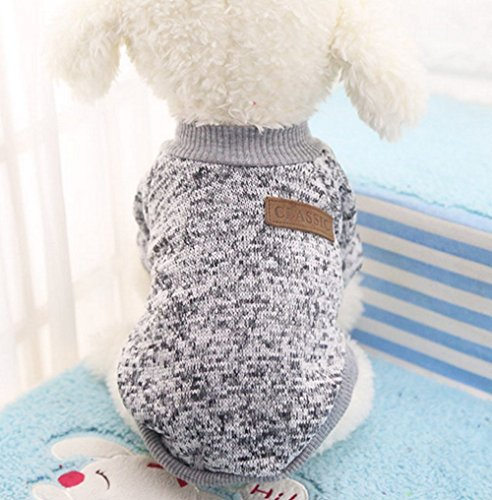 Hemore Haustier Hund Kleidung Winter Warm Pullover Haustier Mantel Hund Kleider Stricken Tierbedarf-Dog Pet Clothes -