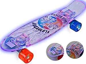 nick and ben flameboy light up skate board mit led licht light deck komplett board cruising. Black Bedroom Furniture Sets. Home Design Ideas