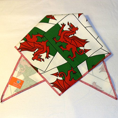 Premier Dog Hunde-Halstuch, Design Welsh Dragon