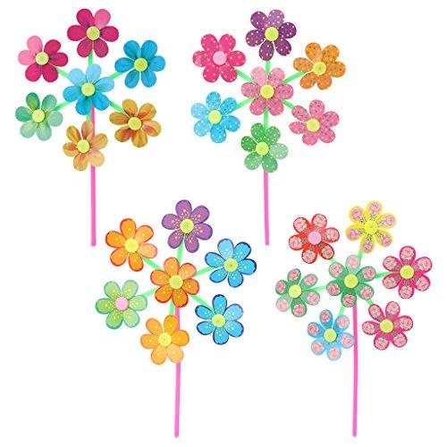 Fogun girandola, 1 pezzo, motivo floreale, mulino a vento per giardino di casa, decorazione per party, giocattoli, colore casuale
