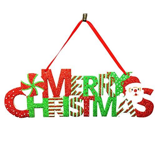 Rokoo Frohe Weihnachten hängende Zeichen Weihnachten Anhänger Brief Decor Santa Claus Baum Tür hängende Ornament