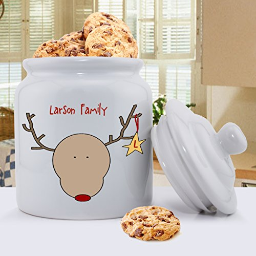 Personalisierte Holiday Cookie Jars - Rentier