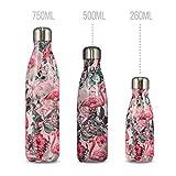 Chilly's Trinkflaschen | Auslaufsicher, Kein Beschlagen | BPA-freier Edelstahl | Doppelwandige Vakuum Isolierung | Hält Getränke +24 Std. kalt, Heiss für 12 Std. |...