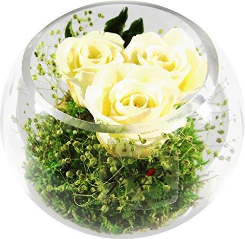 Fiori-Composizione floreale in tre Eterna-Rose Rose contiene tre vera Premium Champagne konservierte-nostro esclusivo Baskets-Fiore viene realizzato a mano e con