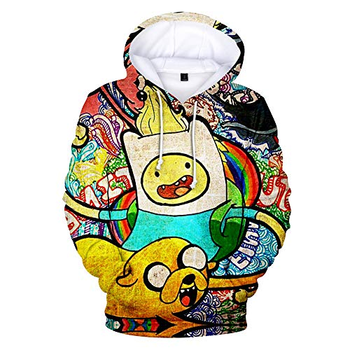 3D Hoodie Unisex Print Sweatshirts Mantel Tops Hd Kapuzen Pullover Cosplay Sport Style Adventure Time XS-3XL