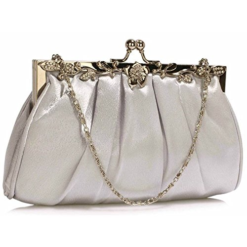L And S Handbags, Poschette giorno donna Silver