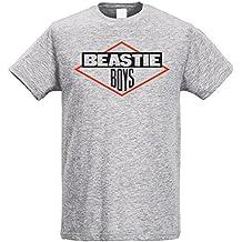 LaMAGLIERIA Camiseta Hombre Slim Beastie Boys - Camiseta Rap Hip-Hop 100%  algodòn Ring 9d5bc37f166
