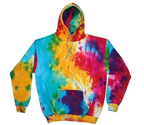 PLAIN (S - MULTI RAINBOW) NEW PREMIUM TIE DYE HOODIE - Blank Novelty Boots Wellies Bestival Creamfields Global Gathering Reading the garden party glastonbury tickets Vintage retro top clothes Unisex Mens Ladies Womens Girl Boy Shirt Hoodie T hoodies Festival Fashion Sixties Rave 60's 60s Acid Tye Die Music Cool geek Dope Gift Birthday Christmas Present S M L XL 2XL- by