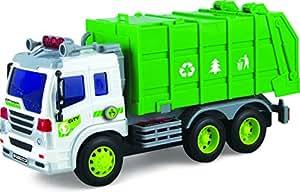 Ragazzi Giocattolo - Automezzo Camion della spazzatura carica ad attrito – TG640-G - creato da ThinkGizmos (marchio protetto)