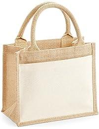 Westford Mill - Bolso de tejido de saco con bolsillo