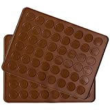 Belmalia 2x Macarons Backmatte aus Silikon