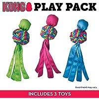 Kong Wubba Weaves Juguete para Perro, Grande, Paquete de 3