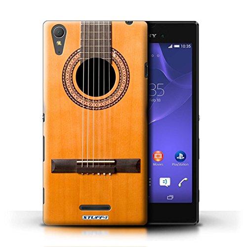 Kobalt® Imprimé Etui / Coque pour Sony Xperia T3 / Sunburst Electrique conception / Série Guitare Acoustique en Bois