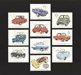 Micro & Bubble Cars–Berkeley T60, BMW BMW Isetta, fuldamobil, Heinkel/Trojan 200, Wiesen Munter, Messerschmitt KR, nobel 200, schälen Trident, und ZUNDAPP jansus–Sammler Karten