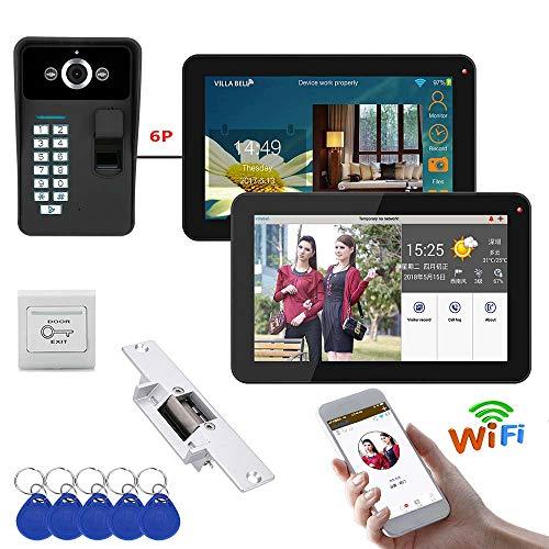 JINPENGPEN 9-Inch WiFi Smart Video Timbre del teléfono Sistema de intercomunicador Timbre...