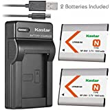 Kastar Slim USB Battery Chargers With Battery (Pack Of 2) For Sony NP-BN1 NPBN1 BC-CSN And Cyber-shot DSC-QX10 QX30 QX100 DSC-TF1 DSC-TX10 TX20 DSC-TX30 DSC-W530 DSC-W570 DSC-W650 DSC-W800 DSC-W830 Digital Camera +More