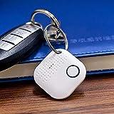 Porte-clés Connecté pour Retrouver Tous Vos Objets (Clés,Portable,Tablette,Portefeuille,Sac.) Localisateur d'objets et Traqueur Sonore,Key Finder Anti-Perte Via App iOS et Android (Blanc)