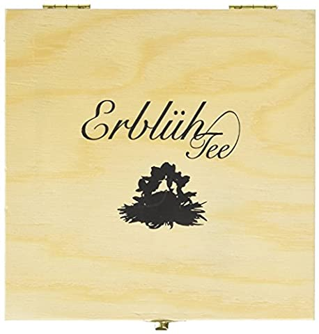 Creano Abloom-Tealini 12 Piece Flowering Flavoured Cup Sized White Tea in Wooden Box