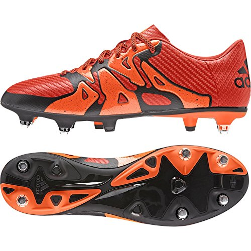 adidas X15.3 Sg, Chaussures de football homme Rouge - Rot (Bold Orange/Ftwr White/Solar Orange)