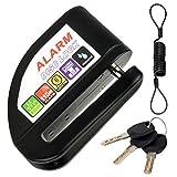 Alarm Disc Lock,Motorcycle Bike Anti Theft Disc Brake Lock 110dB Alarm Sound Waterproof