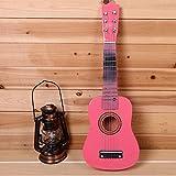 E Support TM enfant 6cordes 53,3cm Ukulélé en bois pour guitare acoustique Instruments de Musique Jouets pour les débutants 53,3cm rose