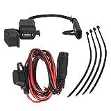 Wasserdicht SAE auf USB 2.1A Kabel-Adapter und USB als Ladegerät-Set mit Inline-Sicherung für Motorrad