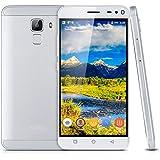 "Bluboo Xfire 2 - Smartphone libre 3G Teléfono Android (Pantalla 5.0"" IPS HD, 8GB ROM, Quad Core 1.2GHz, Dual SIM, Lector de huellas dactilares), Blanco"