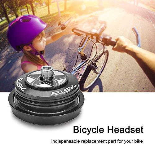 44mm-56mm Fahrrad Steuersatz,Rennrad Threadless Headset Mountainbike Headset Gewinde Steuersatz Aluminiumlegierung für 44-55/56mm Steuerrohr und 28.6 mm Gabel(44-56mm) -