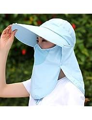 Hyun times Le chapeau féminin d'été à cheval sur un capuchon de randonnée anti-UV anti-UV aux yeux bandés