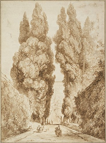 Das Museum Outlet - Cypress Alley At Villa d 'Este in Tivoli (1774) - Poster (61 x 81,3 cm)