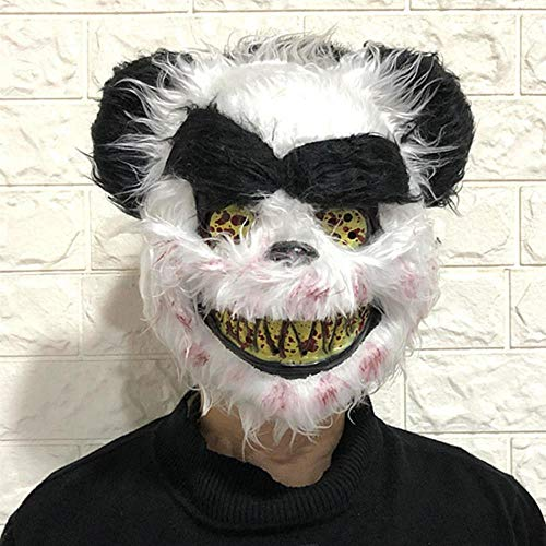 Kostüm Maske Blutige - Halloween Scary Horror Blutige Tiergesichtsmaske Bär Panda Kaninchen Wolf Kostüm Horror Latex Party Maske Erwachsene