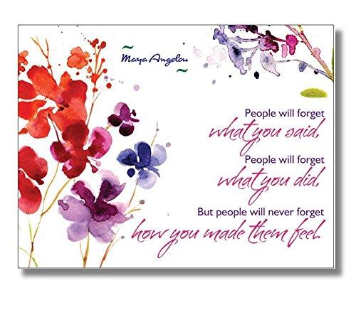 lot-de-20-cartes-postales-maya-angelou-quote-les-personnes-ne-oubliez-ce-que-vous-dit-les-gens-vont-