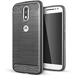 Motorola Moto G4 Cover,Motorola Moto G4 Plus Custodia,Lizimandu Creative 3D Schema UltraSlim TPU Silikon Shock-Absorption Copertura Della Cassa Del Custodia Case Tacsa Protettiva Shell per motorola moto g4/g4 plus(Grey)