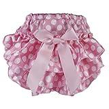 Culotte Bloomer Couvre-couche Prop Photographie pour Bébé Fille 0-6 Mois Taille S (Rose à Pois Blanc)