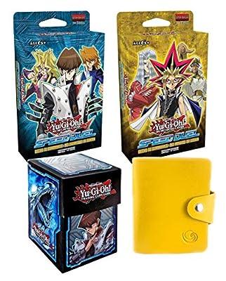 Deck-Yugioh Offre Lagiwa Speed Duel Yugi + KAIBA en français avec 1 Deck Box et 1 Porte-Cartes Format Universel