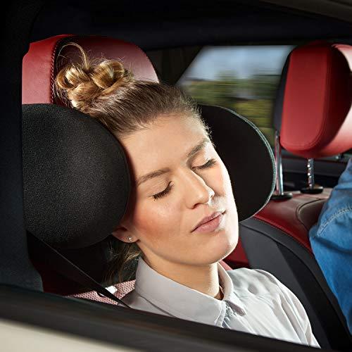 Cartrend 73108 Komfort Auto-Kopfstütze Klappbar, Verstellbar, Inkl. Nackenrolle - Kopf-kissen Kinder Für