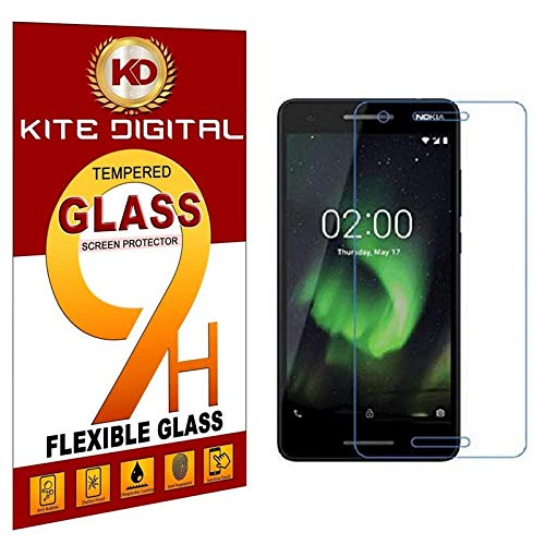 KITE DIGITAL Nokia 2.1(2018) Premium Tempered Glass Screen Protector Slim 9H Hardness 2.5D
